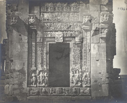 Close view of entrance to temple of the Chandella period, Phatera.
